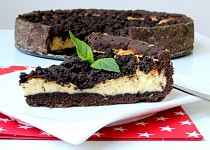 Tvarohový dort s kakaovou drobenkou