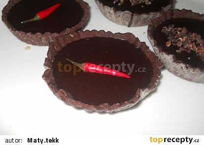 Čokoládové košíčky s chilli