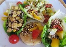 Filé se salátem a semínkovým posypem