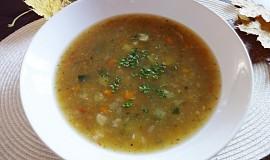 Hustá zeleninová polévka s pohankou