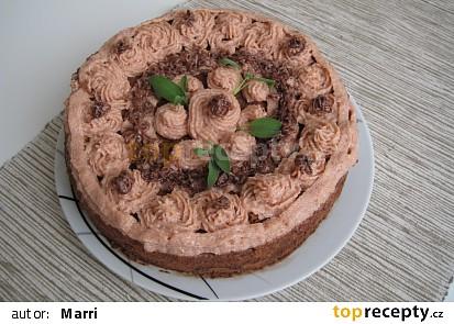 Hvězdičkový Granko pudinkový dort s piškoty