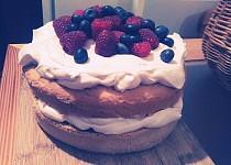Lehký dortík s ovocem - jednoduchý i pro začátečníka