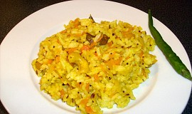 Mrkvová rýže s kurkumou