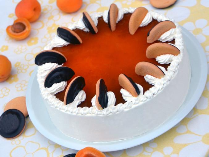 K výrobě nepečeného dortu můžete použít také polomáčené jaffa piškoty