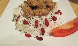 Sójové kostky na hořčici s rýží a chia semínky