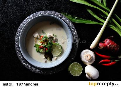 Thajská kuřecí polévka Tom Kha