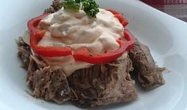 Vařené hovězí maso se studenou omáčkou