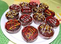 Kakaové muffiny s červenou řepou