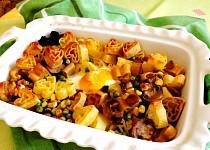 Těstoviny se zeleninou a šunkou