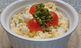 Vajíčkový salát s medvědím česnekem