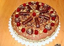 Zdravější ořechový dort s mascarpone, čokoládou a banány