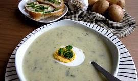 Bramborovo - česneková krémová polévka