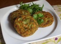 Karbanátky z brokolice a krůtí šunky s tvarohem