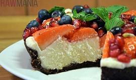 Nepečený ovocný dortík