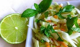 Zelný salát s karotkou, okurkou a mátou