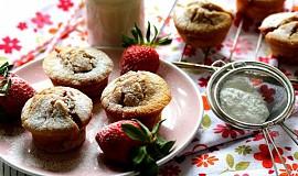 Jahodové muffiny z rýžové mouky