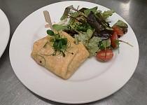 Plněná omeleta s vůní kokosu (na slano)