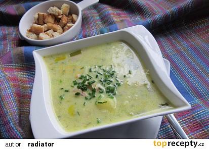 Pórková polévka se sýrem-rychlá a jednoduchá