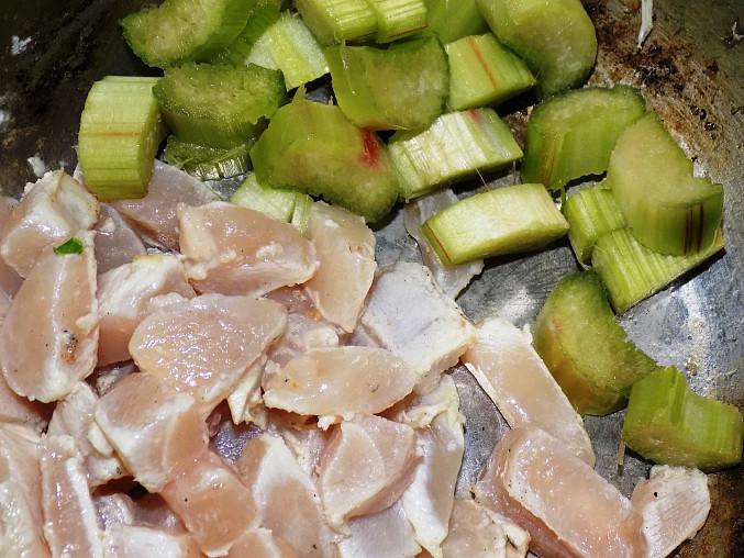 Drůbeží ňadro (prso) s rebarborovou šalší ( Filet w sosie z rabarbarem )