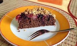 Makový koláč s ovocem a drobenkou