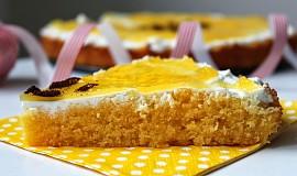 Polentový dort s tvarohem a pomerančovým želé