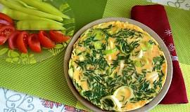 Pórková omeleta s pažitkou