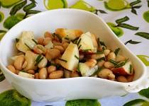 Sojový salát s jablkem