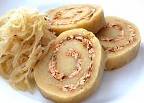 Pečený bramborový knedlík s uzeným tofu