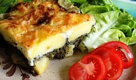Zapečené brambory se špenátem a sýrem