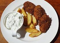 Kuřecí nugety s preclíkovou krustičkou a pečenými bramborami