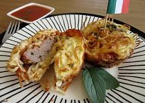 Špagetové muffiny s mletým masem