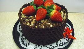 Černý dort bezvaječný