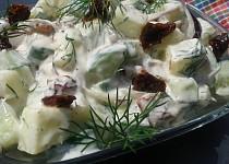 Rychlý cuketovo - okurkový salát s koprem