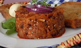 """""""Tataráček"""" z lilku a sušených rajčat"""
