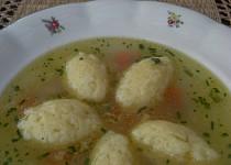 Sýrové nočky z odpalovaného těsta do drůbeží polévky