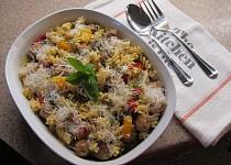 Těstoviny s italskou klobásou a s paprikami
