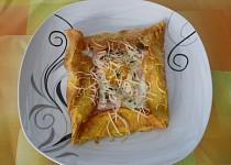 Bretaňské galettes, plněné vejcem, šunkou a sýrem