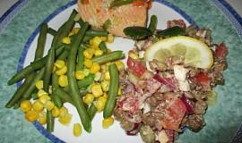 Lososové filety s mraženou zeleninou