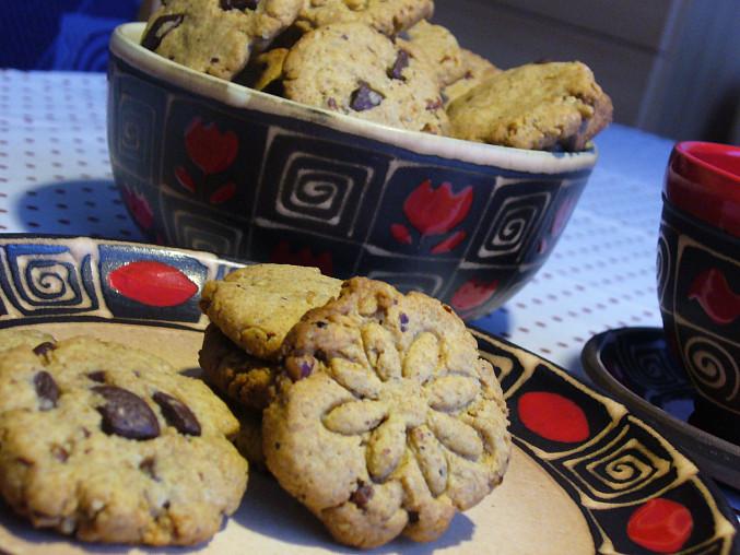 Sušenky s arašídovým máslem a ořechy