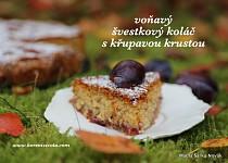 Voňavý švestkový koláč s křupavou krustou