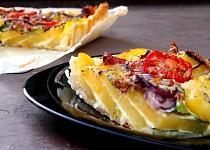 Bramborový koláč se špenátem