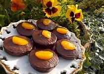 Čokoládové mini dortíky z piškotu