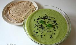 Letní zelená polévka zastudena