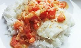 Treska s rajčatovou omáčkou a rýží