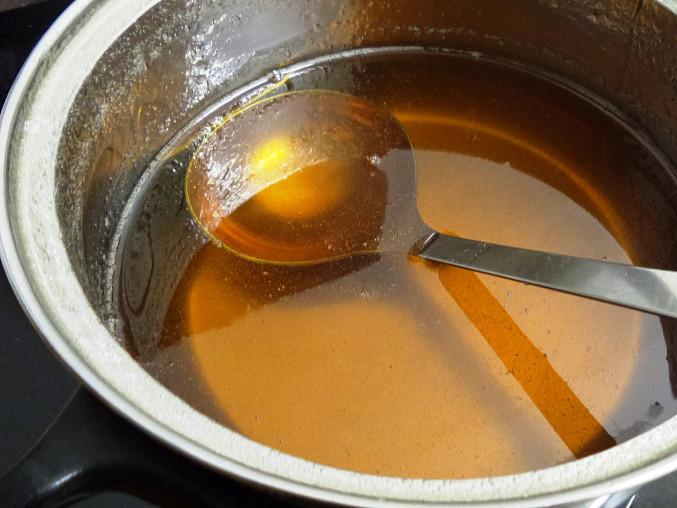 Vánoční levandulový med (na vánoční cukroví), Hustý!