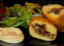 Plněné bramborové krokety