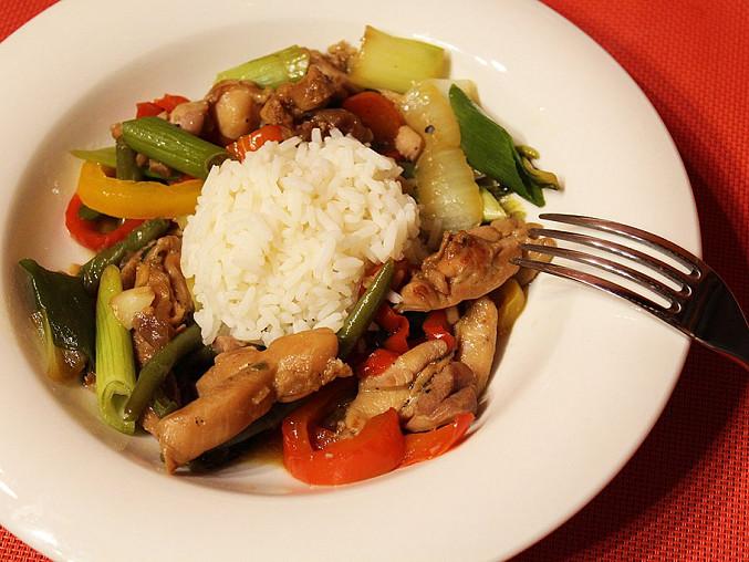 Restované kuře se zeleninou, Restované kuře se zeleninou