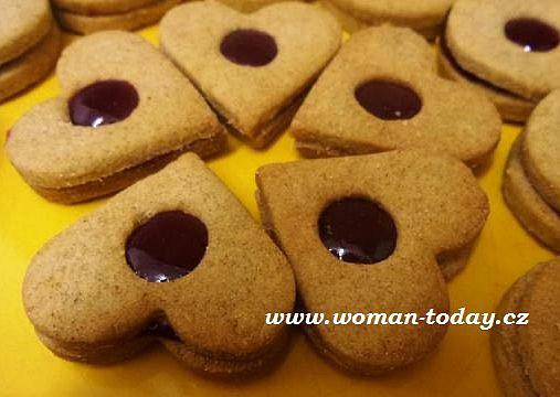 Zdravější linecké, Zdravější linecké cukroví z žitné mouky. Vánoce 2015