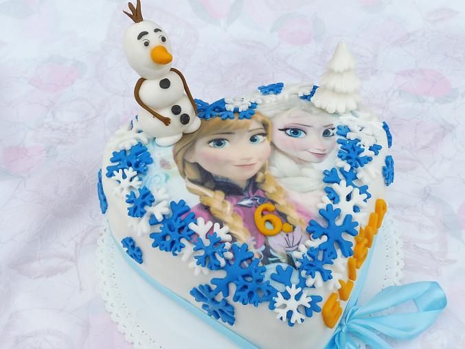 Korpus dortu Ledové království, dort ledové království