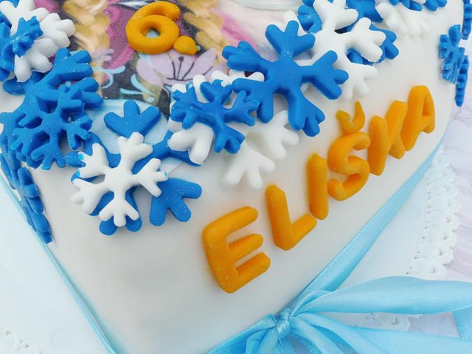 Korpus dortu Ledové království, dort ledové království Eliška